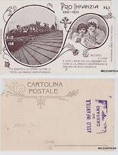 # DERGANO: CART. RARISSIMA NUMERATA PER L'ASILO INFANTILE DI DERGANO 1901-02