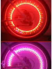 2x Bike light Wheel Tire Valve Cap Spoke Neon Lights 5 LED Lamp 32 changes