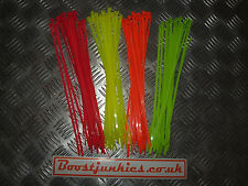 fluorescent Cable ties,  4 x colours perfect for drift / track 300mm x 4.8mm