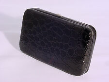 SNAKE SKIN EMBOSSED IPHONE 4/4S/5 CASE WITH CREDIT CARD SLOTS #8307 #BLACK