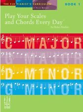 Play Your Scales & Chords Every Day Learn to Beginner EASY Piano Music Book 1