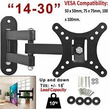 Tilt Swivel TV Wall Mount Bracket For 14 15 20 22 25 30 Inches 3D LED LCD Plasma