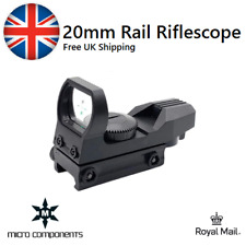 Mira Holográfica 20mm táctica de Riel de Rifle Montaje Alcance de reflejo de Green Dot