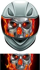 Skull flame fire helmet visor wrap tint vinyl graphic decal style A