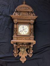 Lenzkirch Freischwinger Regulator Historismus Wanduhr Antik Uhr Eiche Vintage