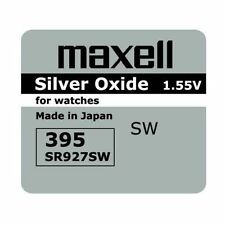 5 BRAND NEW SR927SW 395 Silver Oxide Watch Battery Made in Japan 12-2019