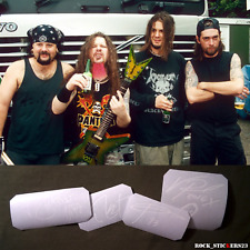 Pantera autographs stickers vinyl decal Dimebag Darrell,Anselmo,Rex Brown,Vinnie