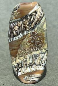 Handmade Lampwork Focal Bead ~ Silver Lace ~ By Soul Of Glass SRA