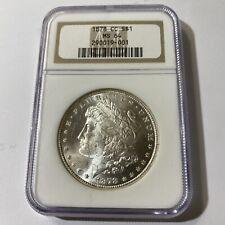 1878 CC $1 Morgan Dollar NGC MS 64 Carson City Mint