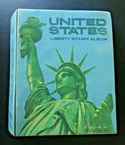 United States Liberty Stamp Album 1847-1985 Harris Binder 600+ stamps included