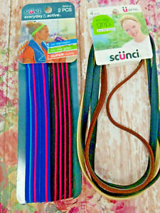 Lot of 2 Scunci  (1) Everyday & Active Non-slip 2 ct and (1) No Slip Grip 4 ct