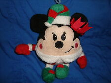 "Disney Store Round Elf Minnie Mouse Plush 9"" tall"