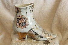 Vintage Ceramic Porcelain Collectible High Heel Shoe