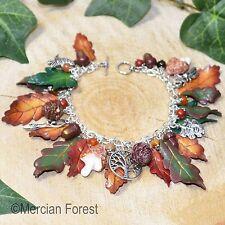 Autumn Woods Charm Bracelet - Pagan Jewellery, Wicca, Witch, Equinox, Oak, Acorn