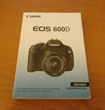 Canon EOS 600D Rebel T3i Deutsche / German instruction manual