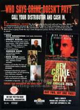 NEW CRIME CITY__Orig. 1994 Trade print AD_movie promo__SHERRIE ROSE__STACY KEACH