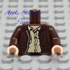 LEGO Brown LEATHER JACKET MINIFIG TORSO Indiana Jones Biker Pocket Button Shirt