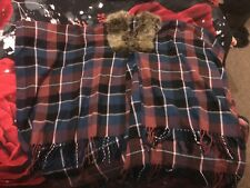 Brand New Never Worn Checked Poncho