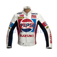 Kevin Schwantz Pepsi Suzuki Motorbike Leather Racing Jacket