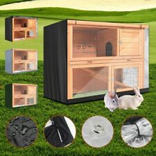 Rabbit Hutch Cover Pet Bunny Cage Waterproof Dustcover Oxford Cloth 122x50x105cm