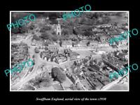 OLD LARGE HISTORIC PHOTO OF SWAFFHAM ENGLAND, AERIAL VIEW OF THE TOWN c1930 4