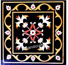 Marble Corner Table Top with Antique Work Coffee Table Pietra Dura Art for Home