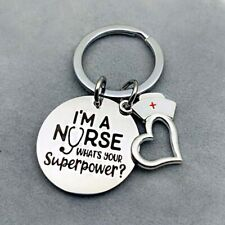 I Am A Nurse Pendant Keychain Keychain Hospital Nurse Day Women Charm NdHNs lskn