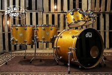 DW Collector's Series Drum Set, Gold Sparkle with Chrome Hardware (video demo)