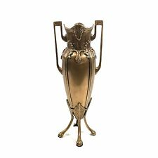 """Large 14"""" Neoclassical Style Brass / Bronze Urn Vase with Paw Footed Base"""