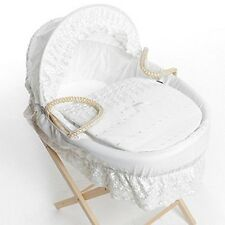 Broderie Anglaise Spare Replacement Moses Basket Dressing, Covers, Bedding