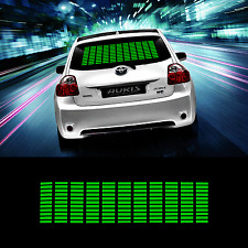 Zone Tech  Music Beat Activated Car Stickers Equalizer Glow Colored LED (Green)