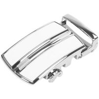 Men's Solid Buckle Automatic Ratchet Leather Belt Buckle In the middle with S4F4