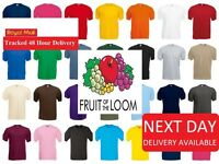 Fruit of The Loom Kids Boys Girls Childrens School Plain T Tee Shirt  SS28B
