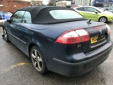 06 Saab 9-3 Convertible Breaking For Parts. Four Wheel Nuts. Cabriolet Blue 290