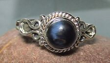 Sterling silver cabochon Pietersite everyday ring UK P/US 7.75