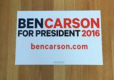 Ben Carson Republican Official 2016 President Campaign Sign Placard