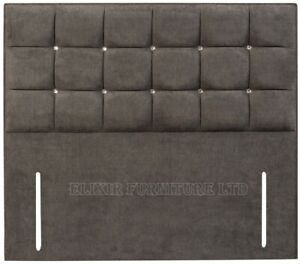 """Chenille 18 Cube 50"""" Floor Standing Bed Headboard - All Sizes & Colours"""