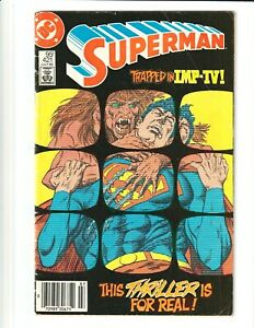 Superman #421 VG/FN 1986 Canadian Price Variant - Lower Print Run! Mask Insert!