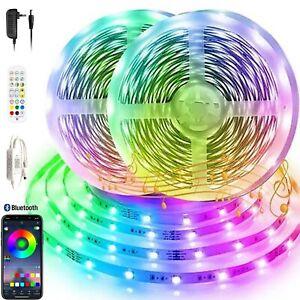 10m/20m/30m LED Stripe RGB Band Streifen Bluetooth Smart Home APP Lichtleiste