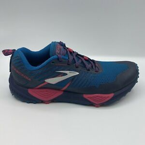 Brooks Cascadia 13 Trail Running Sneakers Ink Navy Blue Pink Womens 6