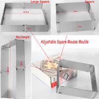 Adjustable Stainless Steel Cake Mousse Square Mould Cake Fondant DIY Baking Tool