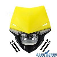 Motocross Dirt Bike Streetfighter LED Vision Headlight Lamp For Suzuki RM RMZ DR