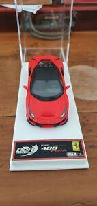 1:43 BBR MODELS Ferrari 488 Pista 2018-Red SF90/Matt New Black Roof 1:43