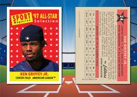 1958 Topps All-Star Style KEN GRIFFEY JR. Custom Artist Novelty Baseball Card
