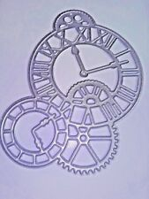 Steampunk Clock Cog Cutting Die Card Making Stencil Scrapbooking Album Embossing