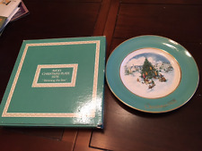 """Avon X-Mas Plate """"Trimming The Tree"""" 1978 Made In England"""