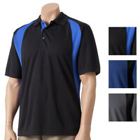 New Grand Slam Men's Stay-Dry Cool Comfort Colorblock Core Performance Golf Polo
