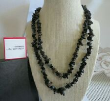 """Agate Nugget/Chip Necklace-38""""-No Clasp Amy Kahn Russell Black"""