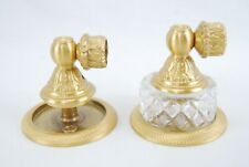 PHYLRICH Satin Gold Baroque TOWEL BAR POSTS Louis XIV Cut Crystal Collection