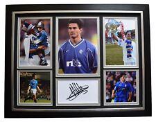 Michael Mols Signed Framed Autograph 16x12 photo display Rangers Football COA